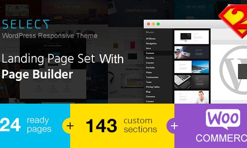 Select - Responsive Landing Page W...