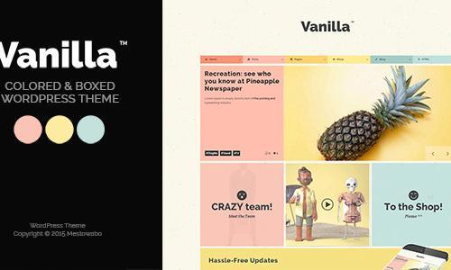 Vanilla - Boxed & Colored WordPres...