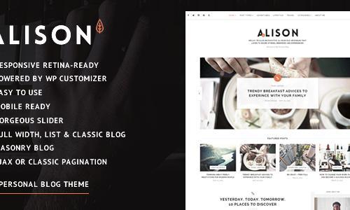 Alison - Responsive Personal Blog ...