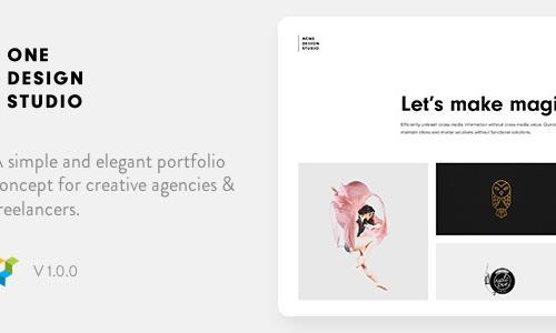 One - Elegant Portfolio WordPress ...