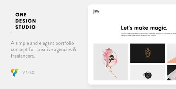One - Elegant Portfolio WordPress Theme