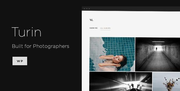 Turin - Aesthetic Photography WordPress Theme