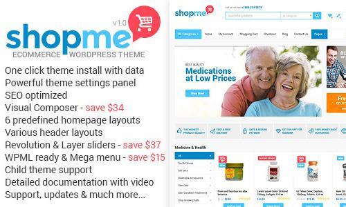 ShopMe - Ecommerce Wordpress Theme