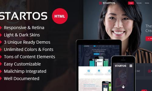 Startos - Modern App Landing Page ...
