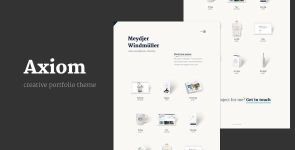 Axiom - Creative Portfolio Layers WP Child Theme