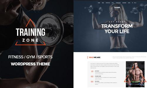Training Zone - Gym & Fitness Word...