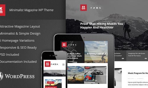 Axon - Minimalist Magazine Wordpre...
