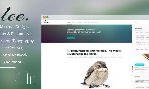 Lee. Minimal & Clean WordPress Blo...
