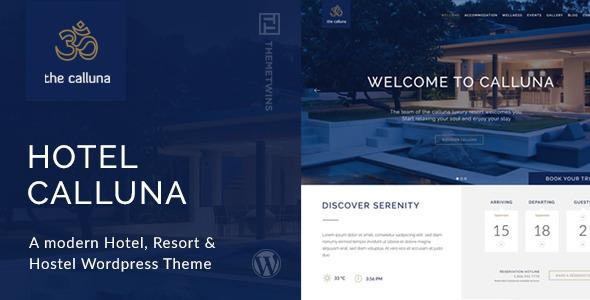 Hotel Calluna - Hotel & Resort & WordPress Theme