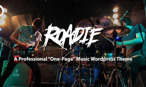 Roadie - Professional One Page Mus...