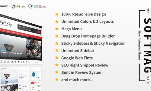 SoftMag - SEO Responsive WordPress...