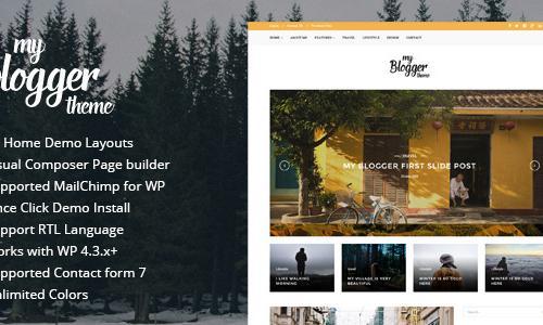 Myblogger - Responsive WordPress B...