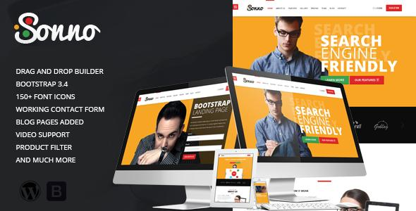 Sonno - Startup Marketing Landing Page WP Theme