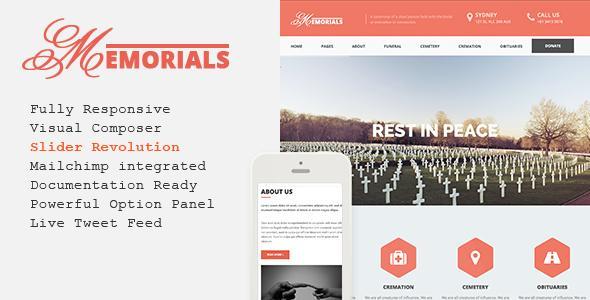 Memorials – Responsive Funeral WordPress Theme