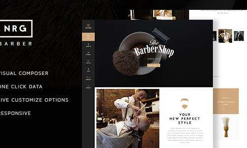 NRG Barber Shop - One Page Theme F...