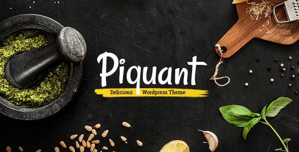 Piquant - A Restaurant, Bar & Café Theme