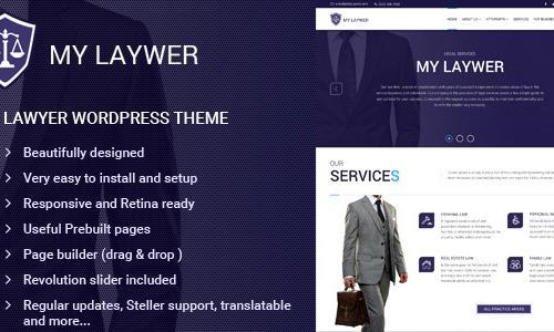 MyLawyer - Lawyer WordPress Theme