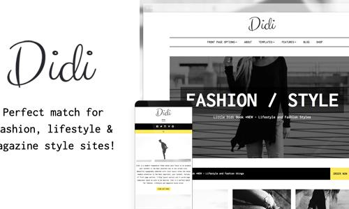 Didi - Fashion Blog WordPress Them...