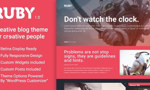 Ruby - A Creative WordPress Blog T...