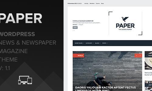 Paper - Wordpress Newspaper and Ne...
