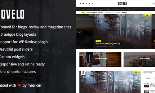 Novelo - Responsive WordPress Blog...