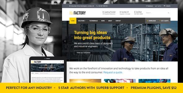 Factory - Industrial Business WordPress Theme