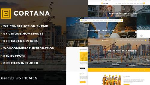 Cortana - Construction & Building WordPress Theme