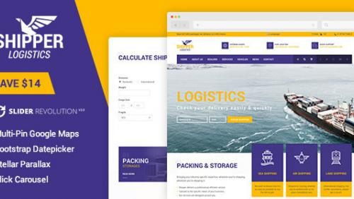 Shipper Logistic - Transportation WordPress Theme