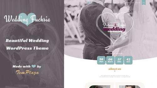 Wedding Fuchsia - WordPress Wedding Theme