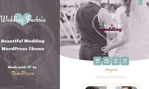 Wedding Fuchsia - WordPress Weddin...