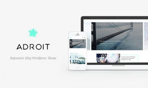 Adroit - Reponsive Blog WordPress ...