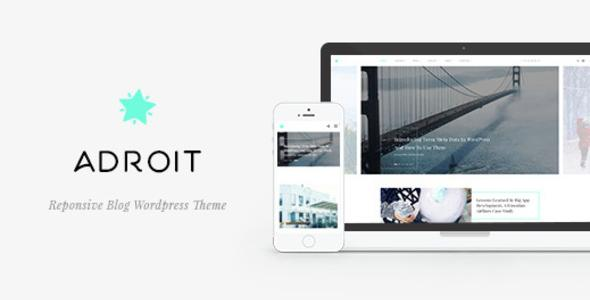 Adroit - Reponsive Blog WordPress Theme