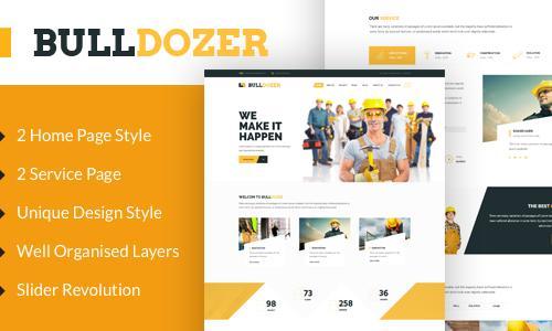 Bulldozer Construction Wordpress T...