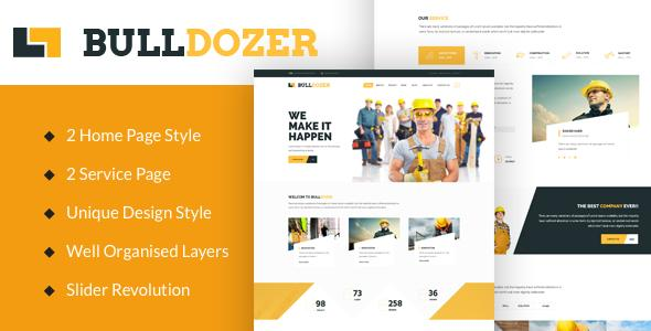 Bulldozer Construction Wordpress Template