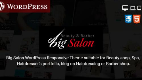 Big Salon - WordPress Theme for Hair Salon, Beauty & Spa Sites