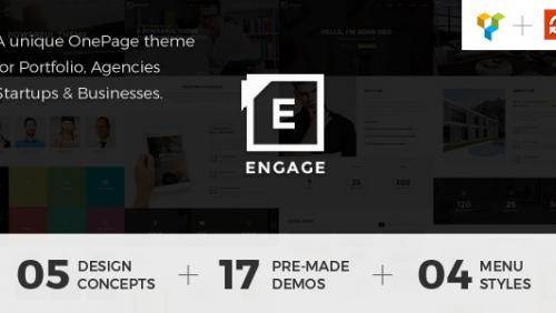 Engage - Creative One Page WordPress Theme