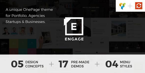 Engage - Creative One Page WordPress Theme