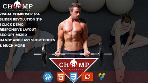 Champ - Gym, Fitness & Yoga WordPress Theme