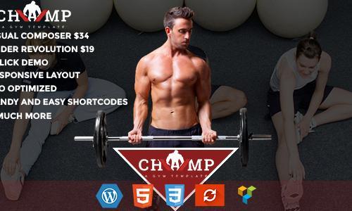Champ - Gym, Fitness & Yoga WordPr...