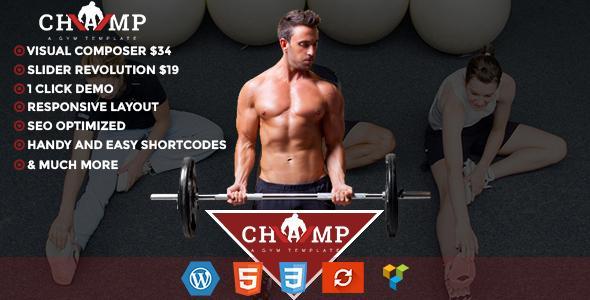 Champ - Gym, Fitness & Yoga WordPress Theme