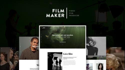 FilmMaker WordPress Theme: Film Studio - Movie Production - Video Blogger - Creative Agency