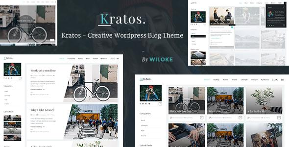 Kratos - Creative WordPress Blog Theme