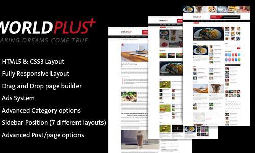 WorldPlus - Responsive News and Ma...