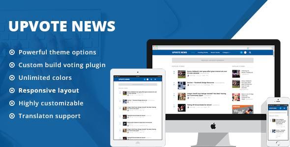 UpVote - Hacker News Styled WordPress Theme