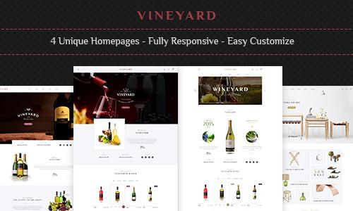 Vineyard - Wine Store and Blog Res...