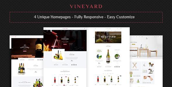 Vineyard - Wine Store and Blog Responsive WordPress Theme