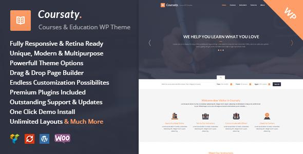 Coursaty - Courses | Education WordPress Theme