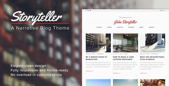 Storyteller — A Narrative WordPress Blog Theme