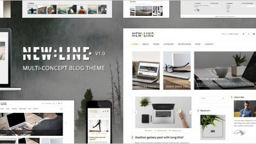 NewLine - Multi-Concept WordPress Blog Theme + RTL
