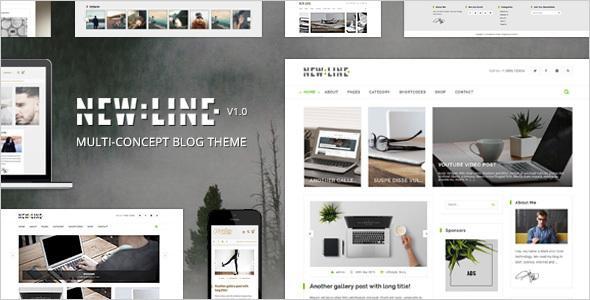 NewLine - Multi-Concept WordPress Blog Theme + RTL